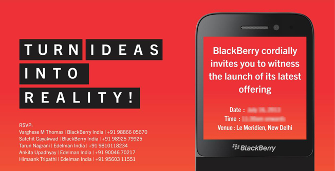 BlackBerry sends out invitations for Q5 launch in India
