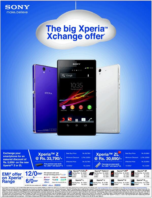 Sony launches buyback offers for Xperia Z and ZL