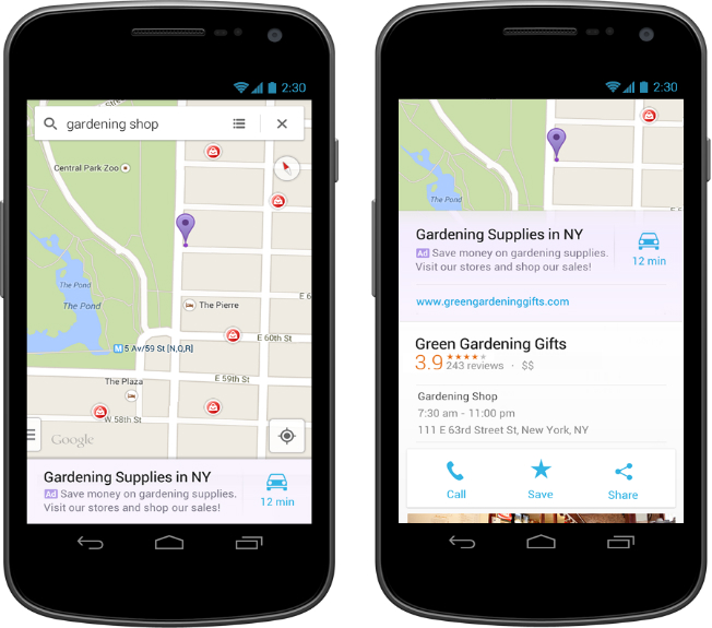 Google brings ads to its Maps app