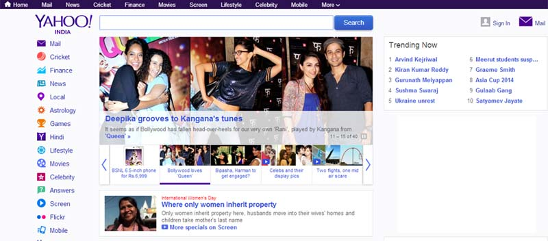 3192de1a39ac86 Yahoo India's revamped homepage, gets a new design and endless content  browsing | BGR India