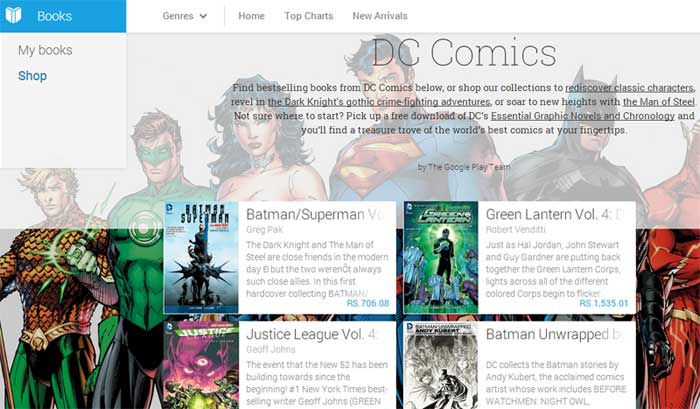 DC Comics to now release weekly issues on Google Play Books