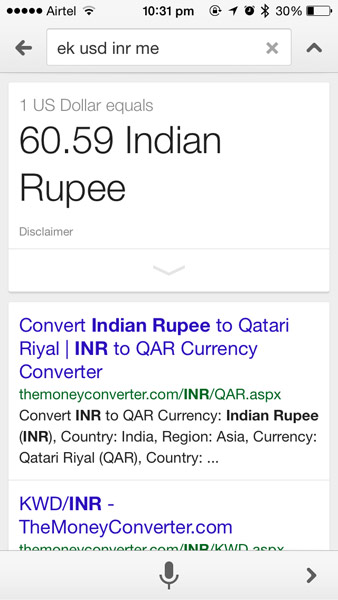 google-now-usd-to-inr