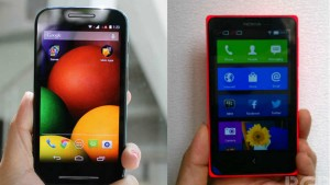 Motorola Moto E vs Nokia X: Specifications and features comparison