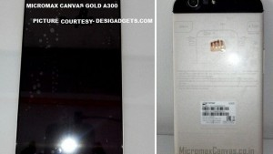 Micromax Canvas Gold A300 octa-core Android KitKat smartphone photos and specifications leaked