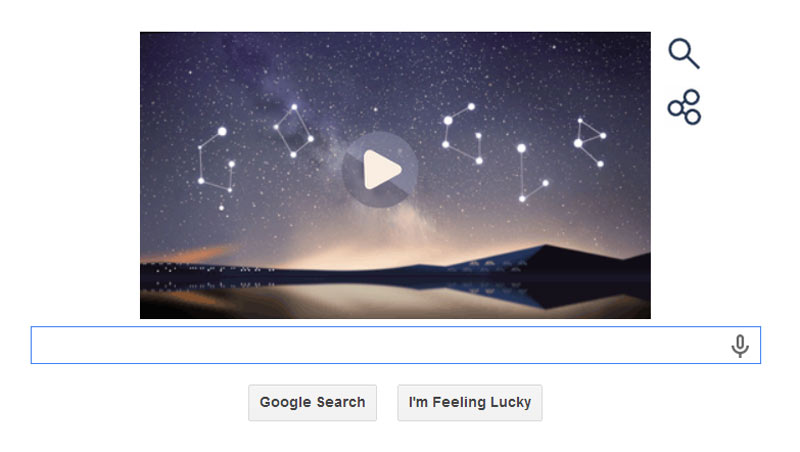 Perseid Meteor Shower 2014 is the subject of the latest Google doodle