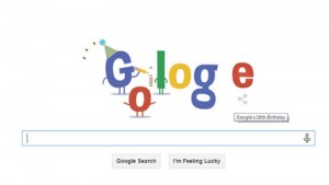 Google's 16th birthday: The search engine's inception is celebrated with an animated doodle