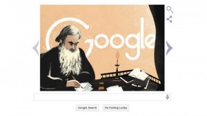 Leo Tolstoy's 186th birthday celebrated with an illustrated Google Doodle