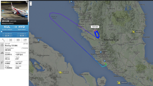 Malaysia Airlines Flight #MH198 enroute Hyderabad emergency landed at Kuala Lumpur