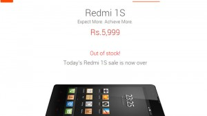 25,000 Xiaomi Redmi 1S units go out of stock in seconds on Flipkart