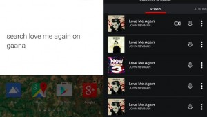 Gaana integrates 'Ok Google' command to search for music without opening the app