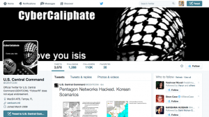 US Centcom Twitter account seemingly hacked by group supporting ISIS