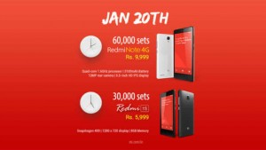 Xiaomi to sell 60,000 Redmi Note 4G and 30,000 Redmi 1S on Flipkart tomorrow, last day to register