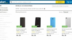 Xiaomi Mi 3 and Redmi 1S back and flip covers available on Flipkart for just Rs 39 today