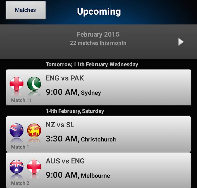ICC Cricket World Cup 2015 Live Updates: Top 5 Apps for live