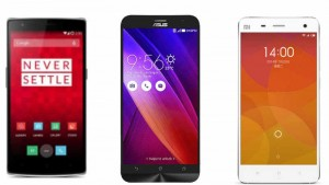 Asus Zenfone 2 (ZE551ML) vs OnePlus One vs Xiaomi Mi 4: Specifications and features compared