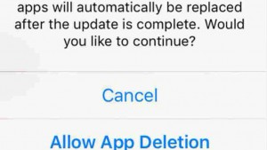 iOS 9 will temporarily delete inactive apps to create space for software update