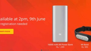 Xiaomi Mi Band, Mi Band straps and Mi 16,000mAh Power Bank go on open sale at 2PM today