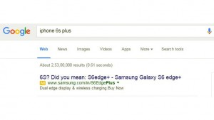 Samsung trolls Apple in Google search ahead of the big iPhone 6s and iPhone 6s Plus launch