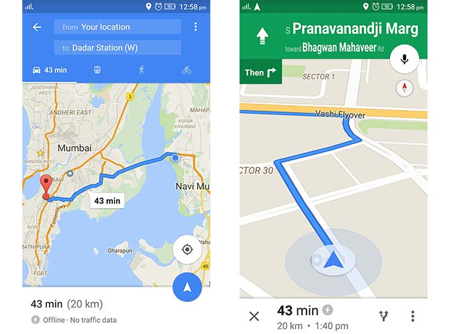 Offline Google Maps with turn-by-turn navigation launched in ... on google chrome search, google sync android, google maps android icon, city maps 2go android, google docs offline android,