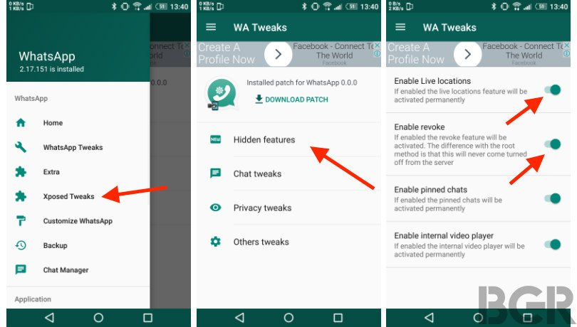 How to get WhatsApp 'unsend' message and 'live location sharing