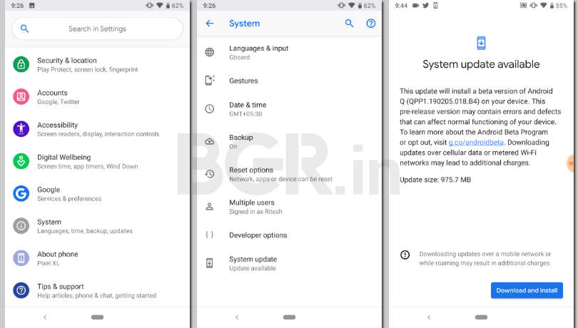 Android Q Beta 2: Here is how to install the new version on all